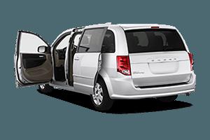 silver minivan